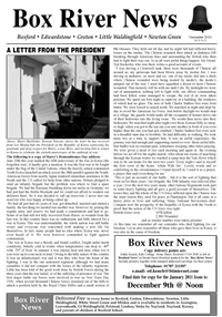 Boxford River News December 2010