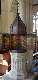 The Font in St. Mary's Church, Boxford