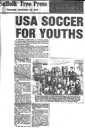 USA SOCCER FOR YOUTHS