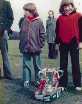 Boxford Youth Football 1979 with the league cup