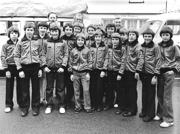 Boxford Youth Football Club 1979 - setting off for The States