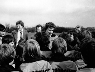 Boxford Youth Football Club 1979 With Tony Woodcock, England and Nottingham Forest Player