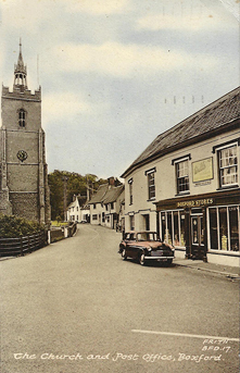 Boxford Church and Boxford Stores, c1960