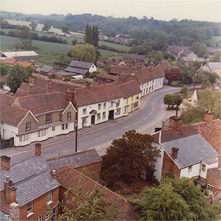 View of Broad Street and Beyond from the Church Tower,  late 1970s