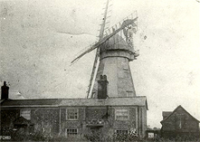 Boxford, Smock mill, Shuttered sails c1901