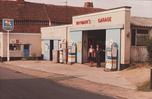 Whymark's Garage, Boxford, Suffolk 1980s