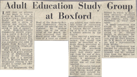 Adult Education Study Group at Boxford