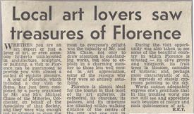 Local art lovers saw treasures of Florence