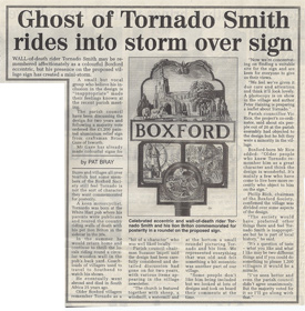 Ghost of Tornado Smith rides into storm over sign