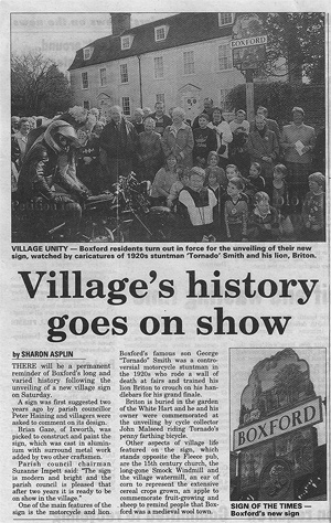 Village's history goes on show