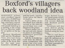 Boxford's villagers back woodland idea