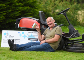 A groundsman from Sudbury is celebrating after scooping a £1M UK Millionaire Maker prize from the EuroMillions. Pictured is lottery winner Martin Crighton. Picture: GREGG BROWN