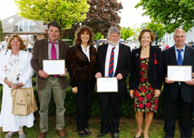 Managers and staff from the Boxford Group following the long service presentation at the Suffolk Show.
