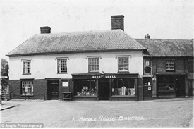 Under threat: The shop in 1930. Historians have discovered it was opened as a warehouse in 1420