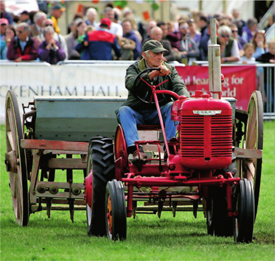 Seed drilling demonstrations at the Hadleigh Show