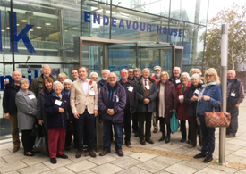 Residents from Boxford came to the meeting at Endeavour House in Ipswich. Picture: PAUL GEATER