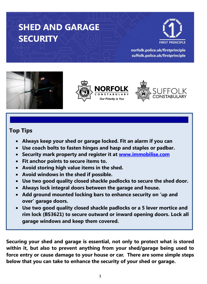 Shed and Garage Security